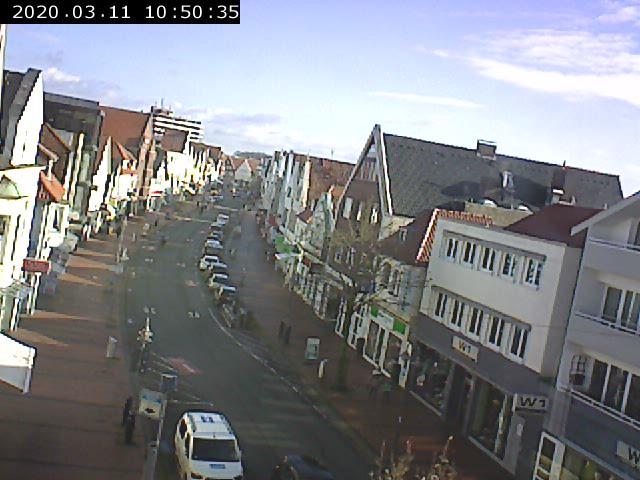 Webcam mit Blick auf die Große Straße in Vechta